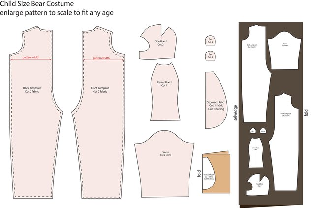 Print this image and enlarge to scale to get a pattern for a child of any size.