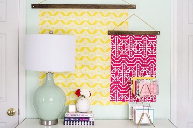 Turn scrap fabric into colorful art suitable for just about any room.