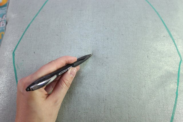 Next, draw a dot in the center on the same line.