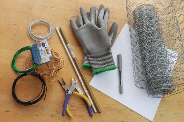 Work gloves are essential when handling wire.