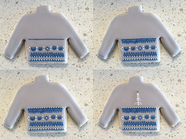 R2-D2 Ugly Christmas Sweater Cookie Steps 9-12