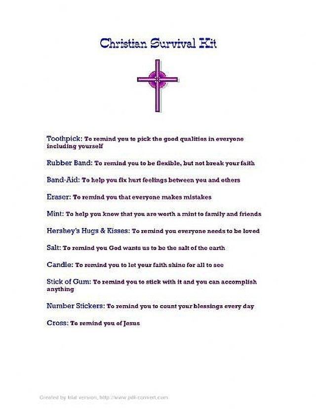 How to Make a Christian Survival Kit   eHow.com