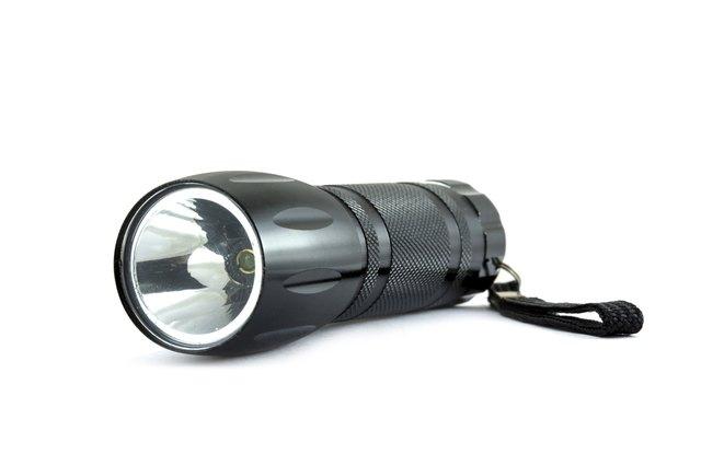black pocket flashlight