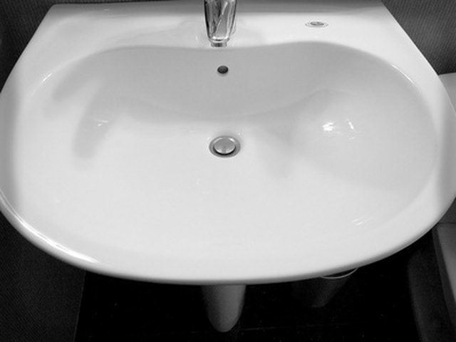 Ceramic and porcelain bathroom sinks often need repairs for chips and cracks.