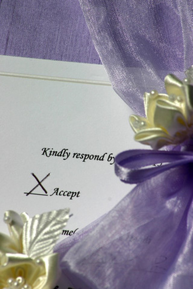 the proper way to fill out wedding response cards ehow