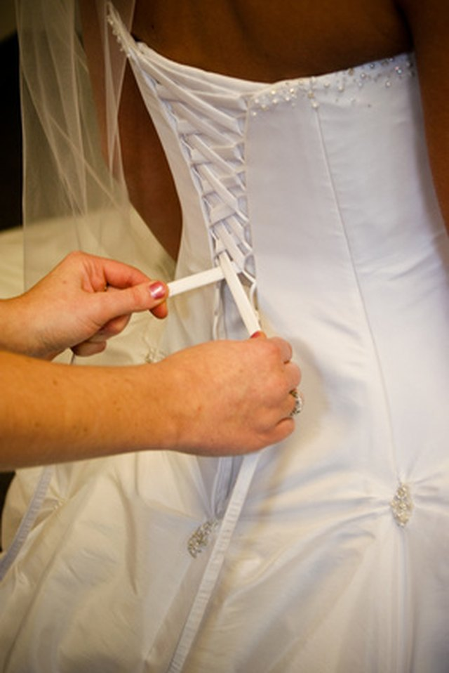 How to Put a Corset Back in a Wedding Dress | eHow