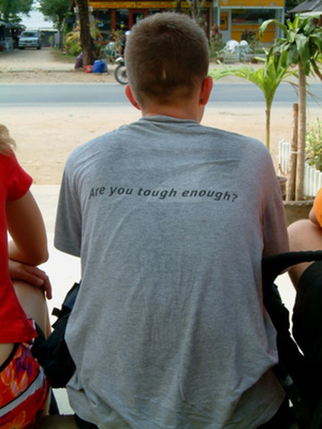 Design your own T-shirts with catchy phrases for an inexpensive, custom look.