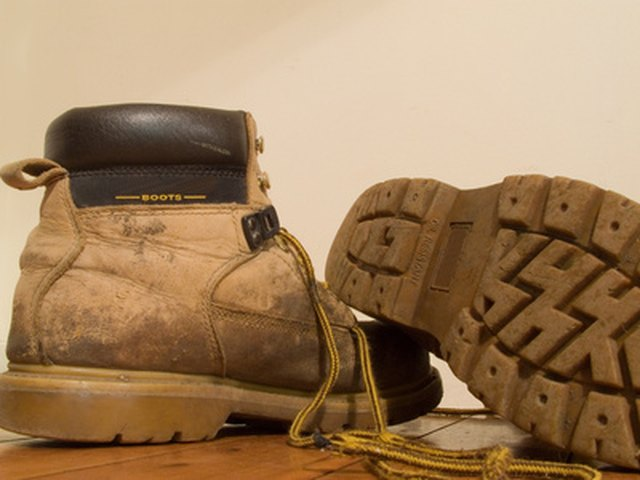 Boots can get stained and dirty easily from outdoor activities.