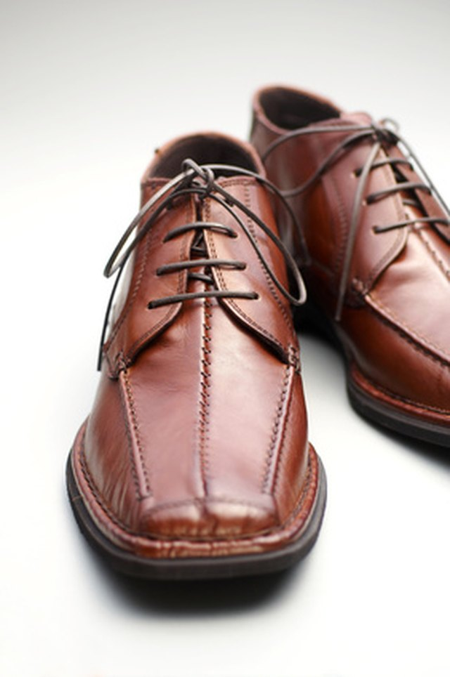 Remove dark ink spots from your leather shoes with a mild soap.