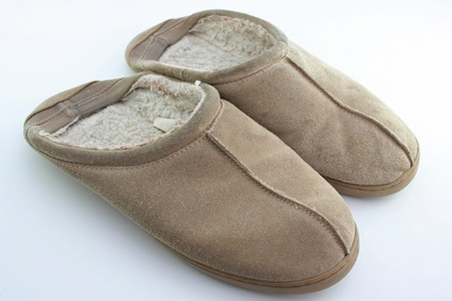 Tamarac slippers are made from suede and shearling, or synthetic materials.