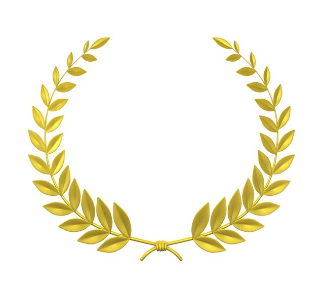 A golden laurel wreath is often associated with the Olympic Games. b13923ac083