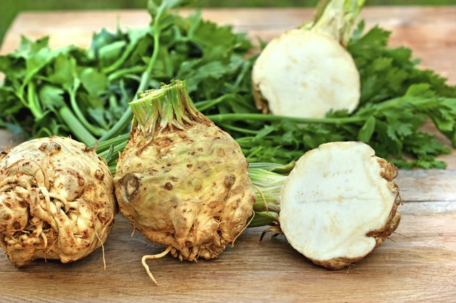 Celeriac roots taste best harvested after three or four light frosts.