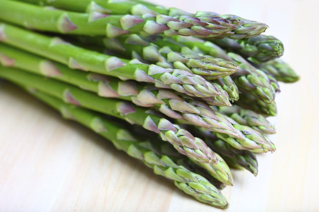 A bunch of asparagus.