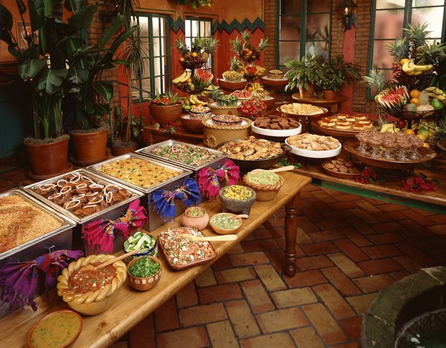 Genial Jazz Up Your Buffet Table By Adding Colorful Decorations And Multiple  Layers Of Food.