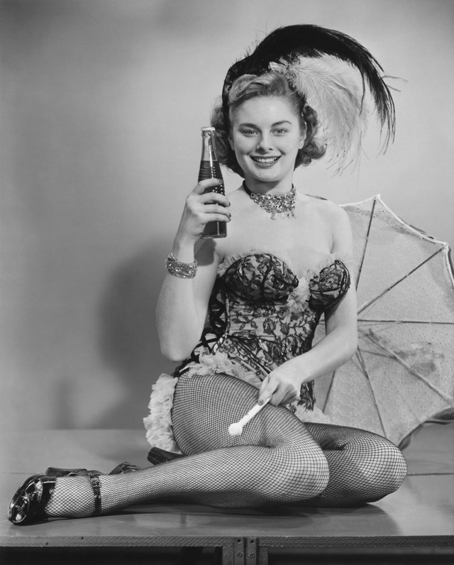 A corset and feathers are an essential part of a saloon girl costume.