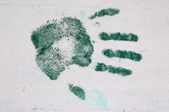 A framed handprint and poem makes a great gift for grandparents and teachers.