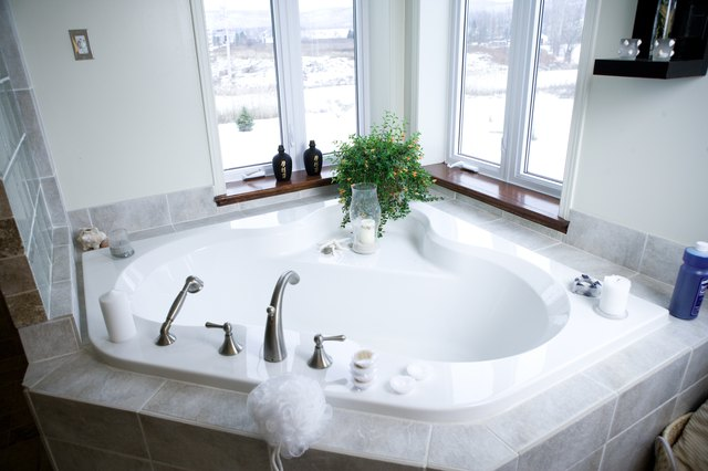 dimensions of corner bathtubs | ehow