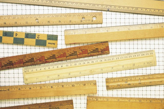 Inches Meters Feet Centimeters Some Rulers Show Both