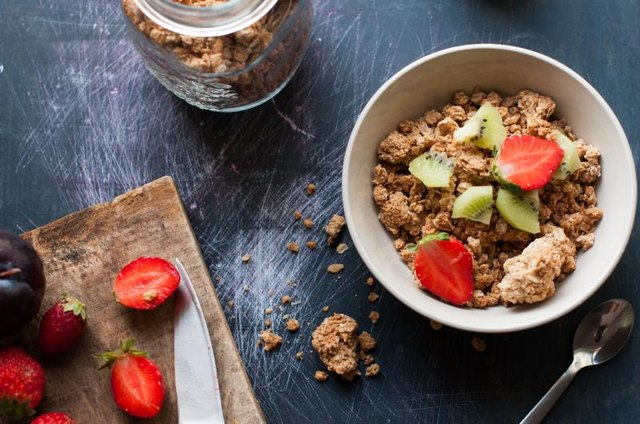 Make your own ultra-healthy granola using pumpkin seeds and natural sweeteners, like honey.