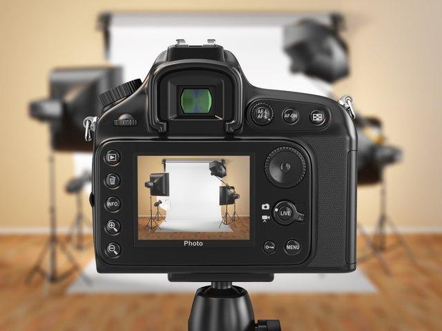 Camera At Photo Studio