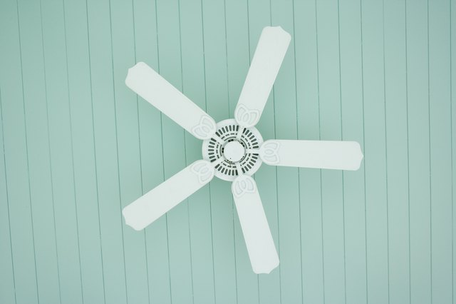 A ceiling fan directly over a bed can dry out the air.