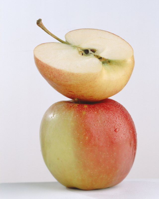 Apples can be frozen whole or in slices and stored safely for up to a year.
