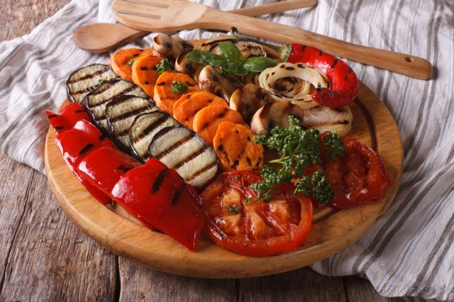 Load up your dinner with roasted or grilled veggies for a filling meal.