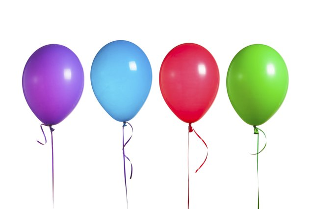 Balloon weights allow you to line up the balloons at a specific height or to keep