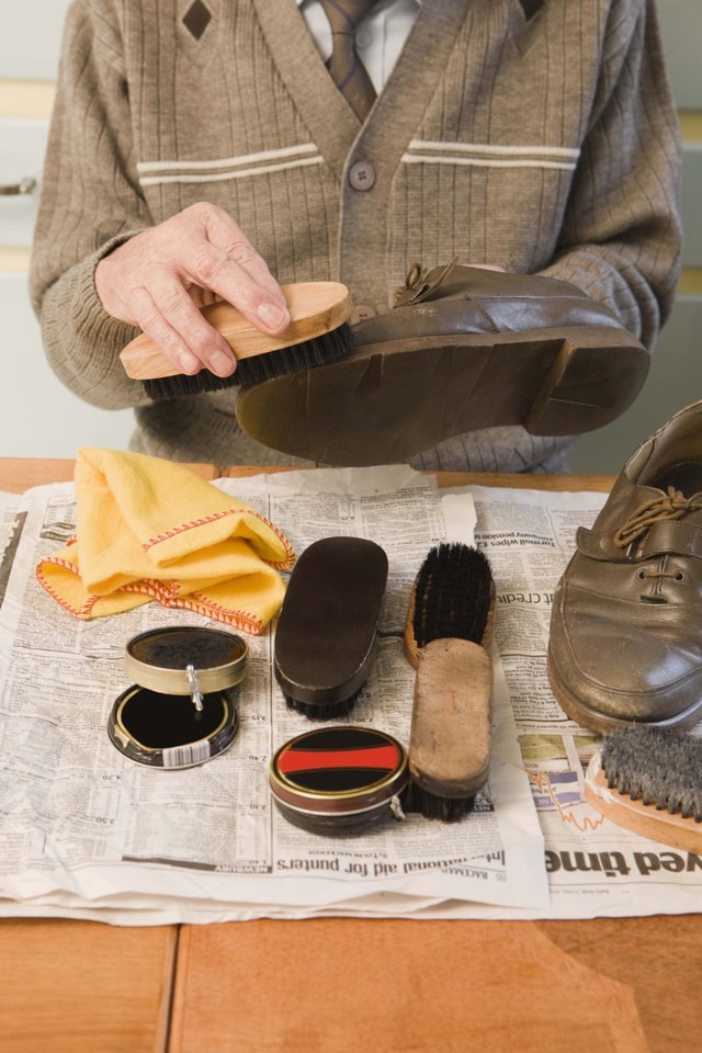 Before you polish your shoes, remove the insoles for a gentle cleaning.
