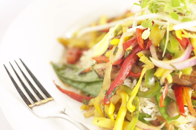 A salad with soy beans and bean sprouts.