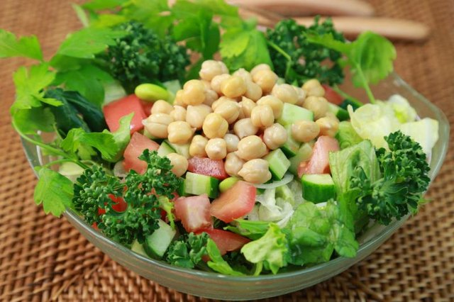 Prebiotic foods, like chickpeas, enhance the benefits of probiotics.