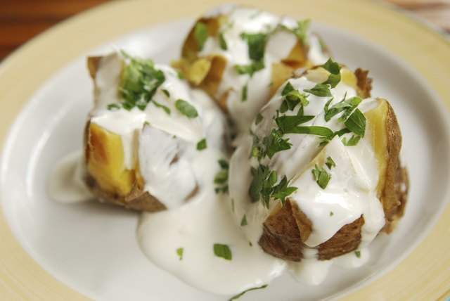 Garnish with parsely and add Greek yogurt or sour cream.