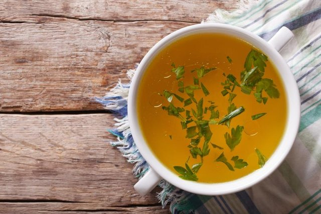 Bone broth comes packed with collagen -- and the perfect mix of amino acids for younger-looking skin.