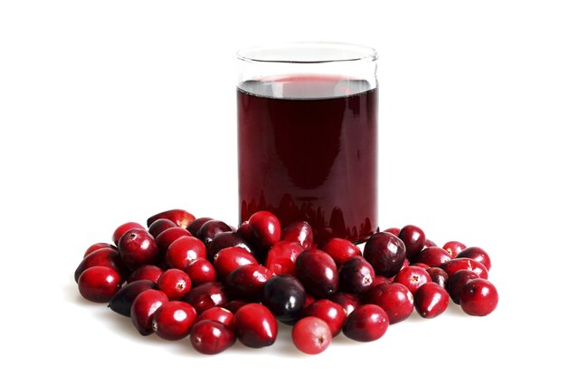 Isolated Cranberry Juice