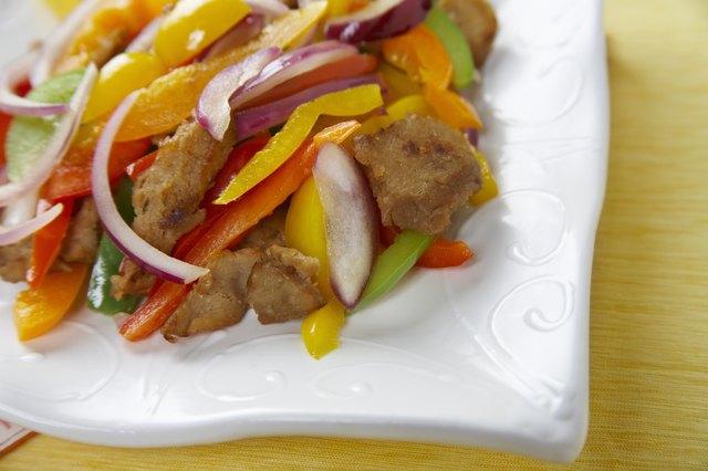 Seitan stir-fry
