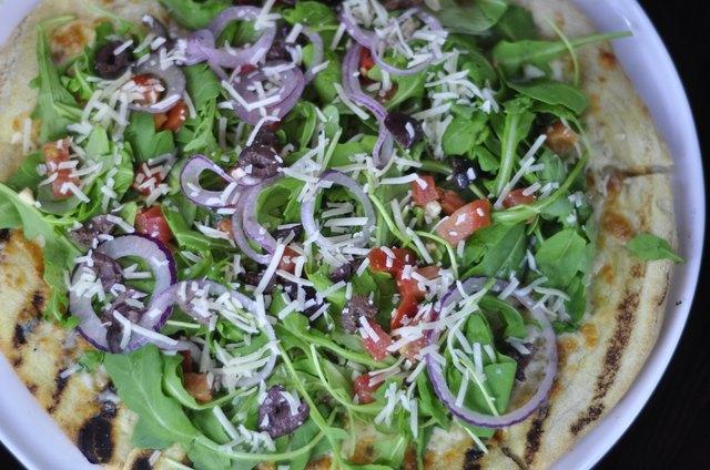 Gourmet Arugula Salad Pizza