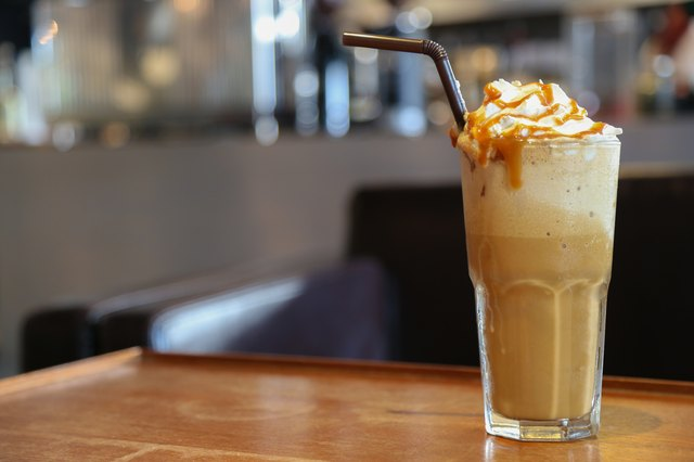 Caramel Cappuccino frappe coffee