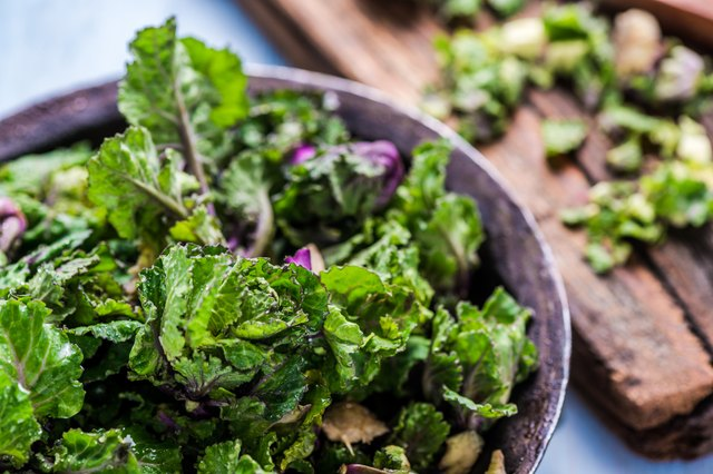 Fresh brussel and kale sprouts flower
