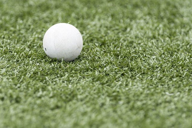 Lacrosse ball on artificial turf