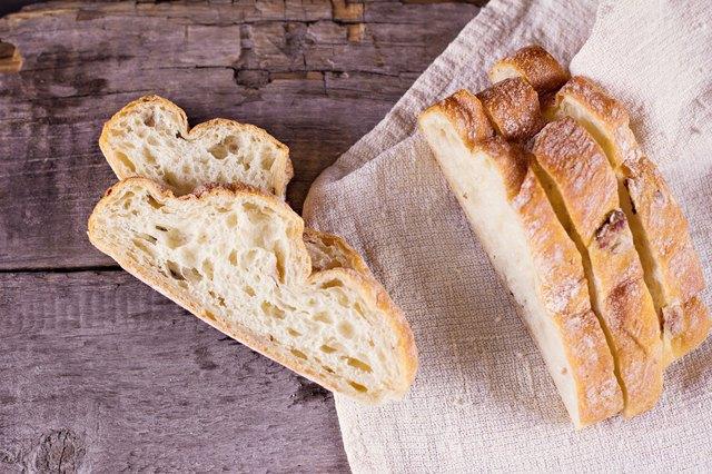 ciabatta, fresh bread, fresh ciabatta on the table.