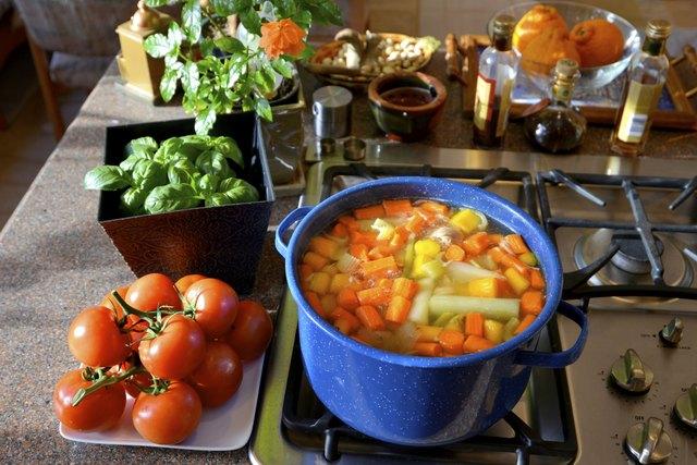Healthy garden vegetable soup