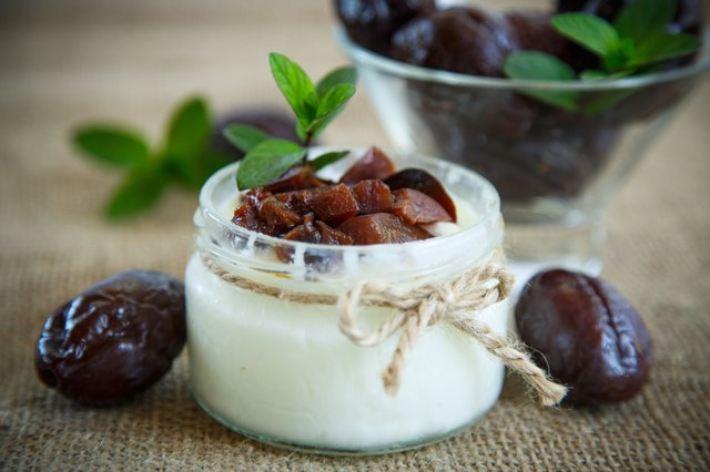 sweet milk yogurt with prunes