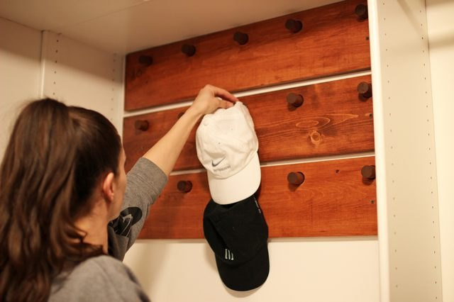 DIY Hat Wall Organizer