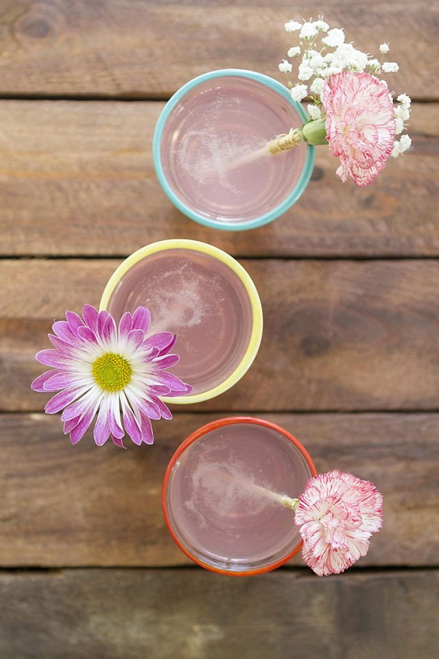 Flower drink stirrers