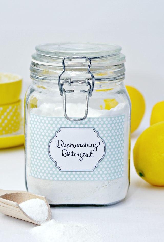 Dishwashing detergent.