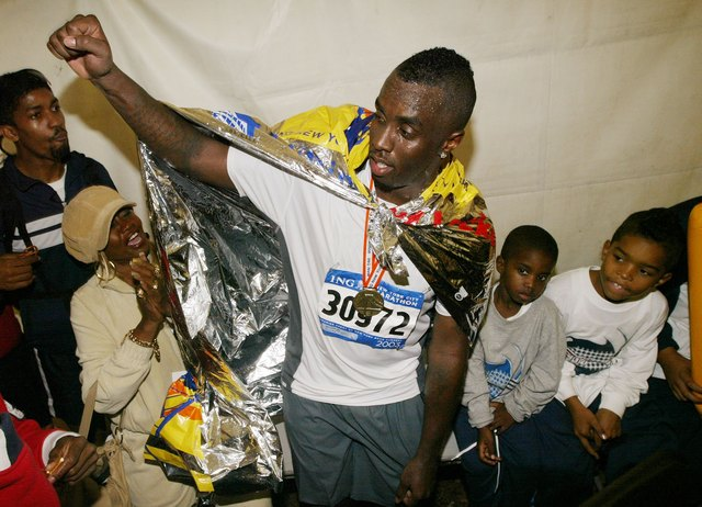 "Sean ""Diddy"" Combs after running a marathon"