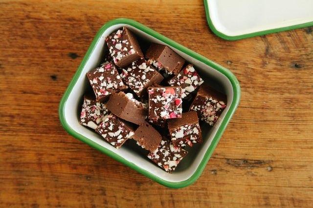 Make easy chocolate peppermint fudge for Christmas.