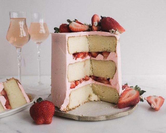 Strawberry Rose Cake