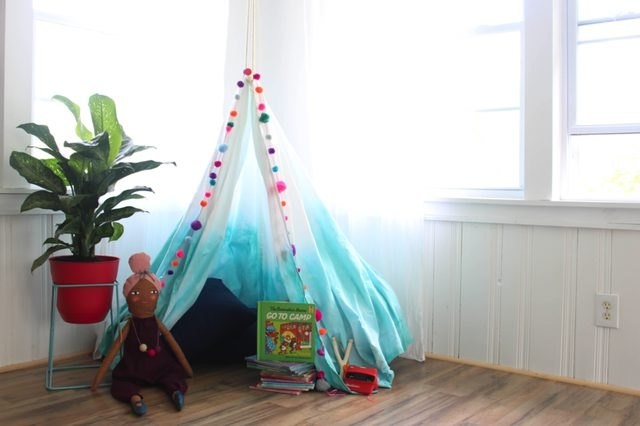 Dip-dyed fabric canopy perfect in any kids room
