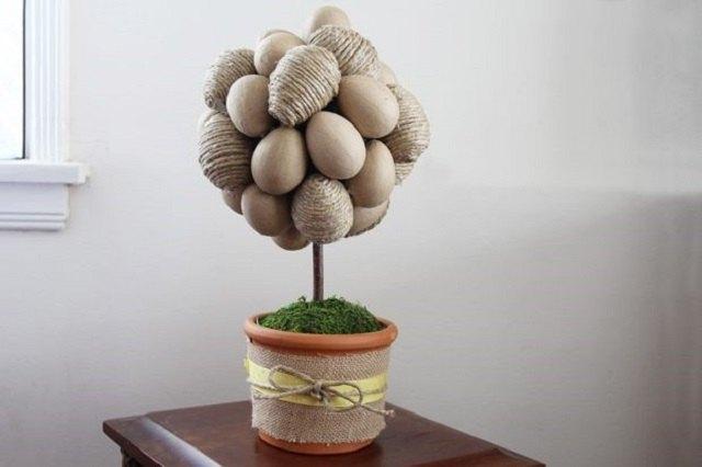 Jute and Burlap Egg Tree